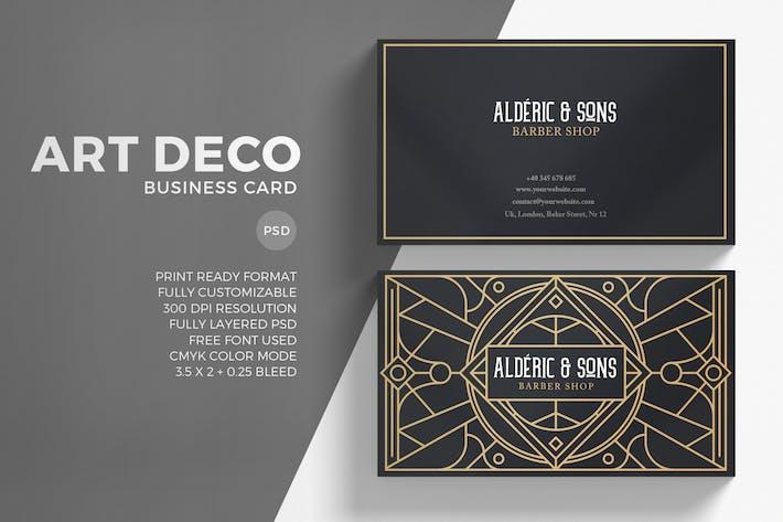 Art deco business card by eightonesixstudios on envato elements art deco business card toneelgroepblik Choice Image