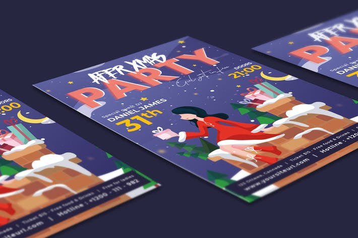 Thumbnail for After Christmas Party Flyer Illustrator Template