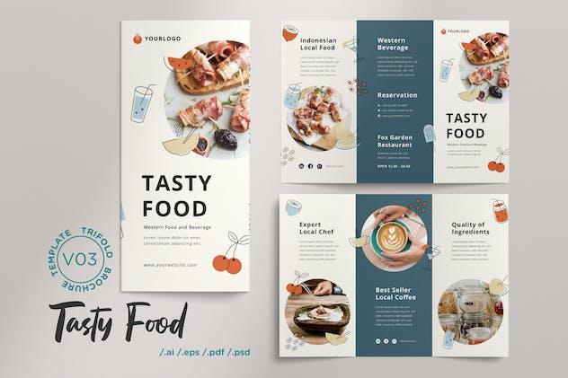 Trifold Brochure Vol.03 Tasty Food Menu Restaurant