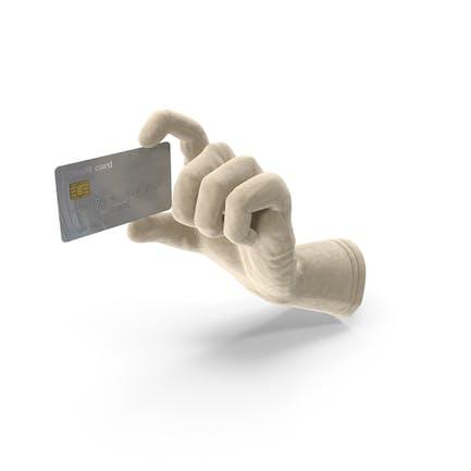 Guante con tarjeta de crédito