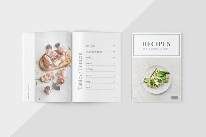 Cover Image For Food Magazine Template