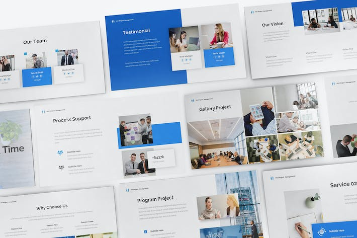 Thumbnail for Project Management Keynote Template