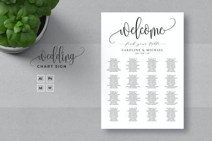 Minimalist Wedding Seating Chart Sign