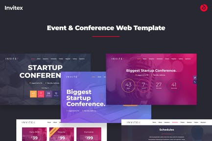 Invitex - Onepage Event, Conference, and Meetup