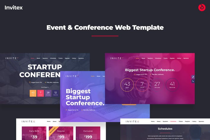 Thumbnail for Invitex - Onepage Event, Conference, and Meetup