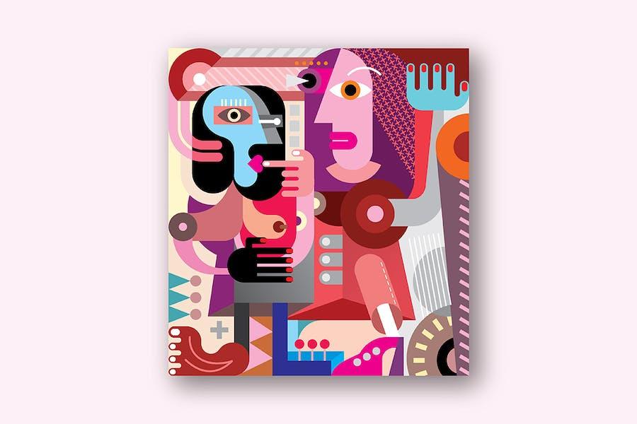 Two Beautiful Women abstract fine art portrait
