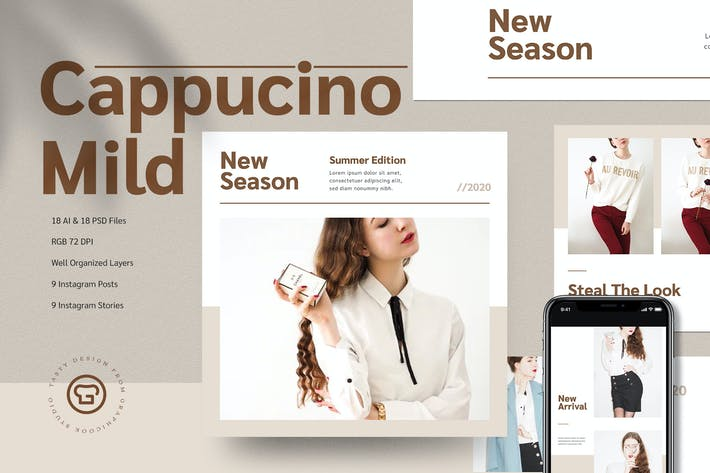 Thumbnail for Cappucino Mild Instagram Pack