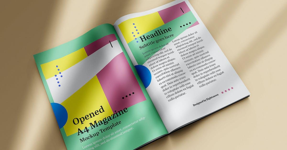 Download Opened A4 Magazine Mock-up by EightonesixStudios