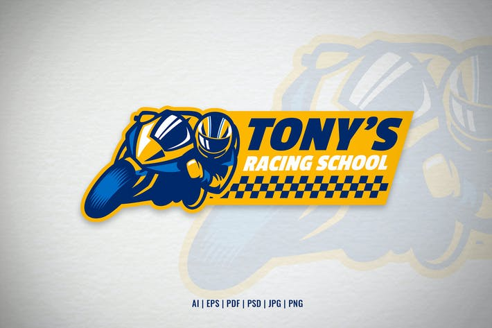 Motorcycle Racing School Logo