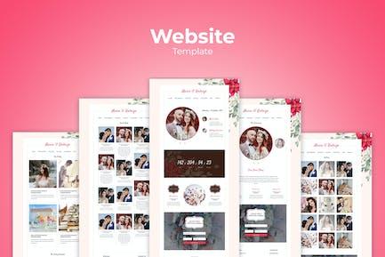 Modèles de site web de mariage