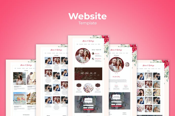 Thumbnail for Wedding Website Templates