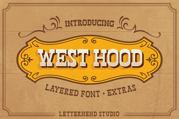 Thumbnail for West Hood - 6 Fonts!