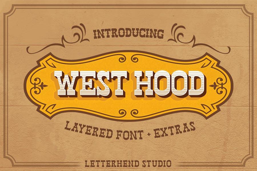West Hood - 6 Fonts!