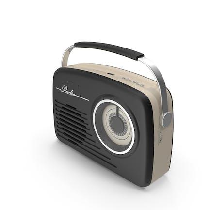 Black Retro Radio