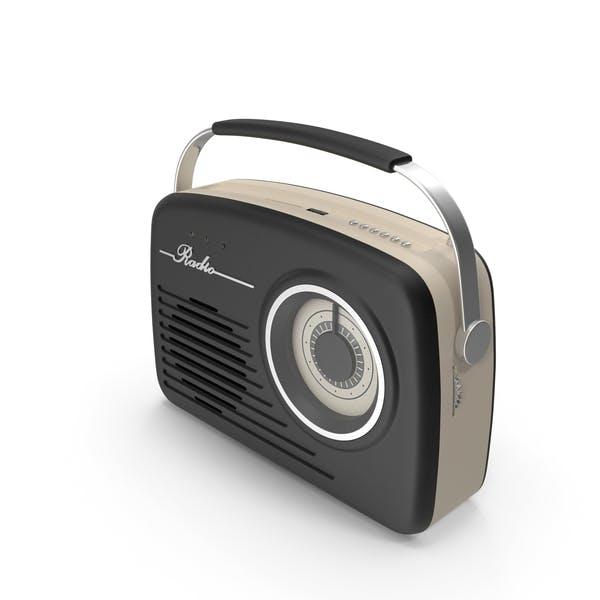 Черное ретро радио