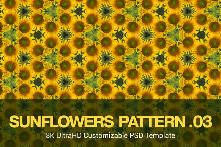 Thumbnail for 8K UltraHD Seamless Sunflowers Pattern Background