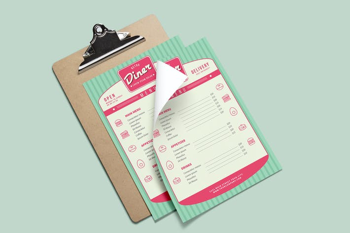 Thumbnail for Retri Diner Menu