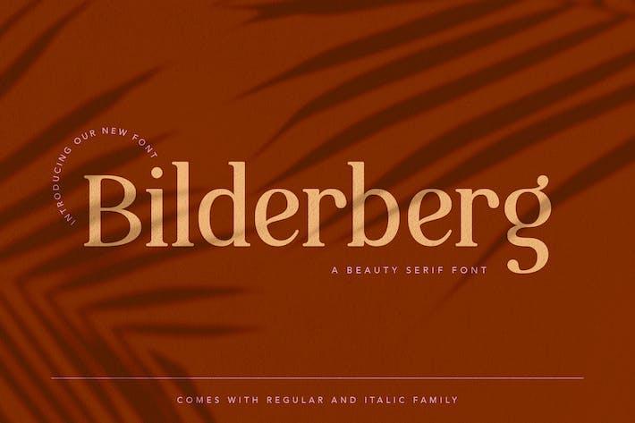 Thumbnail for Bilderberg Beauty Serif Font
