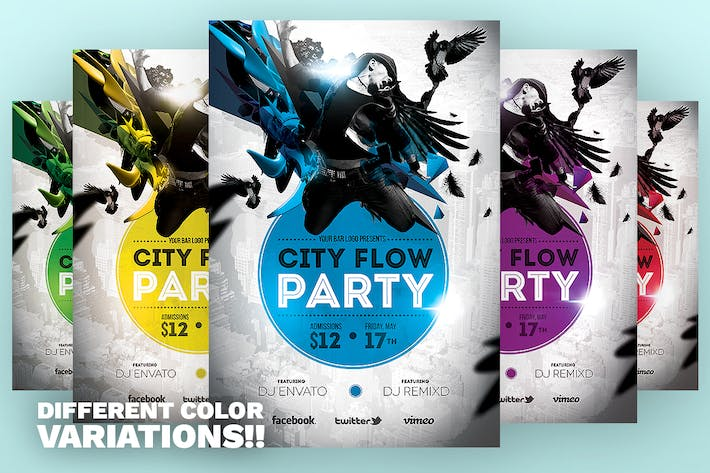 Thumbnail for City Flow Party Flyer Template