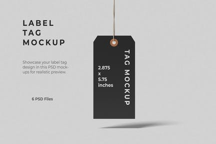 Label Tag Mockups