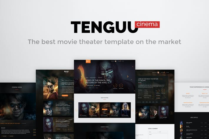 Cover Image For Tenguu Cinema - Movie Theater PSD Template