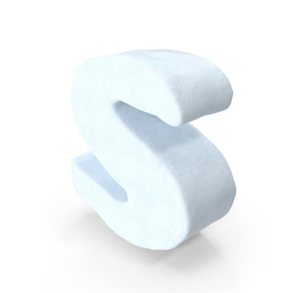 Снежная буква S