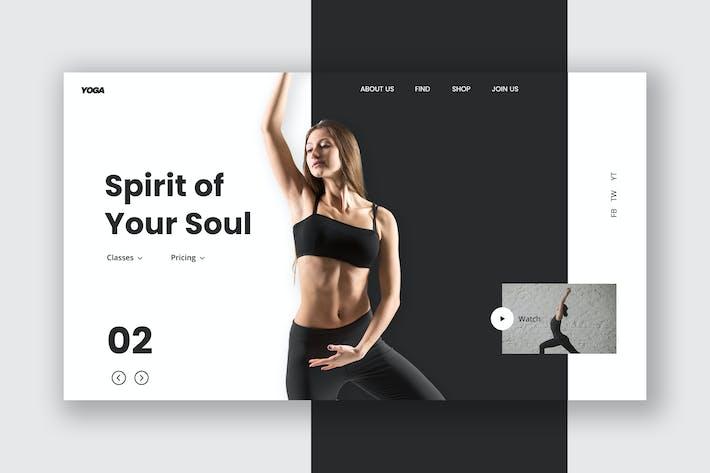 Thumbnail for Female Fitness Hero Header Template