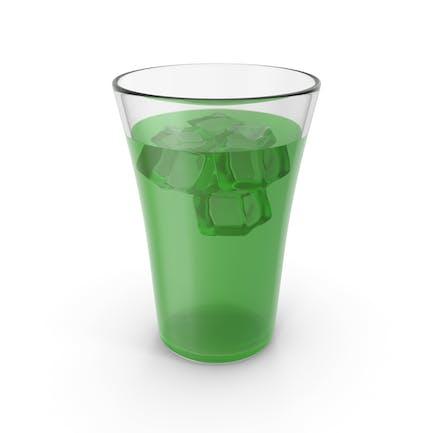 Glas mit Saft & Eis