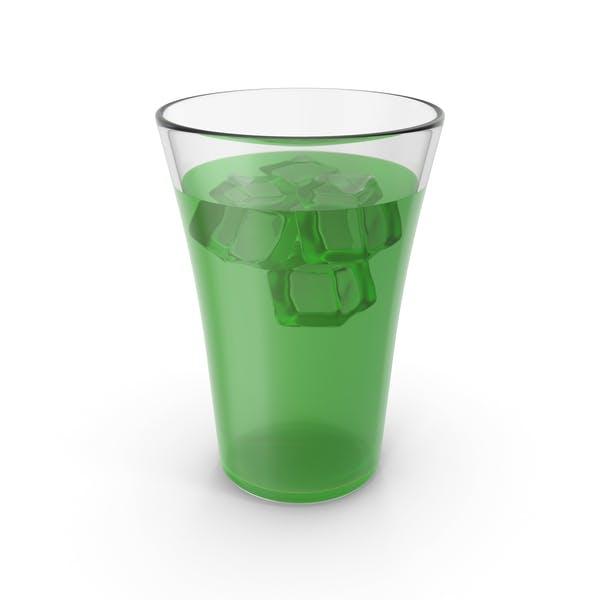 Стакан с соком и льдом