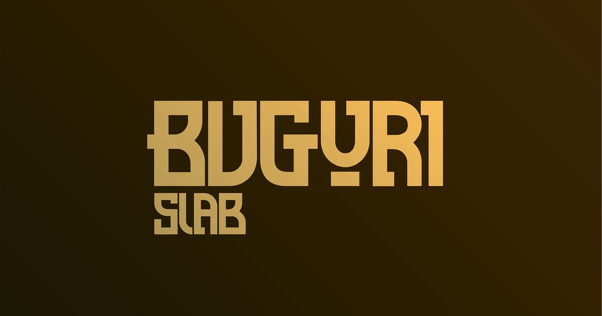 Download Buguri Slab Font by spidergraph