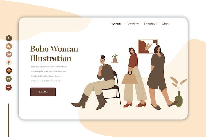 Boho Woman Vol 11 - Landing Page Template