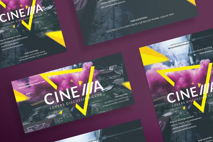 Download 5581 club flyer templates envato elements thumbnail for cinema club flyer and poster template maxwellsz