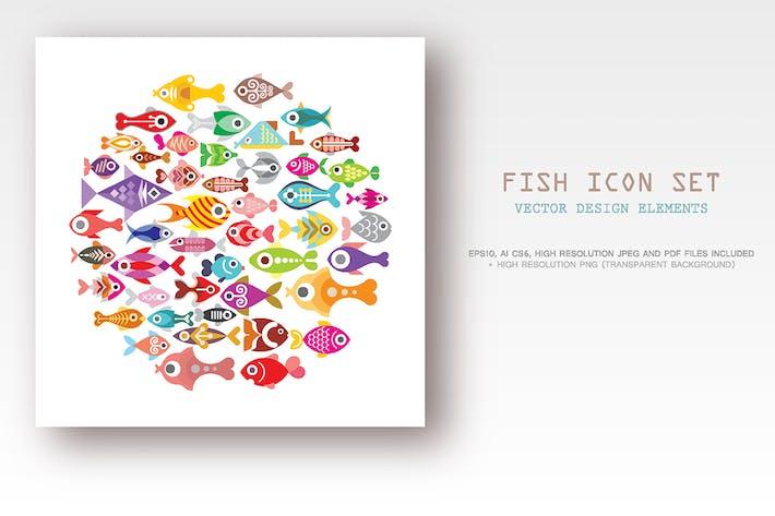 Thumbnail for Fish icon set