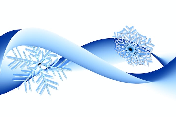 Thumbnail for Winter background with snowflakes