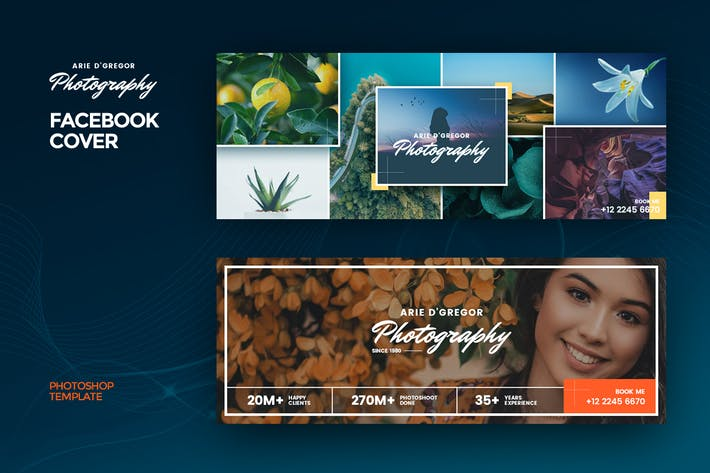 Thumbnail for Photography Facebook Cover Template