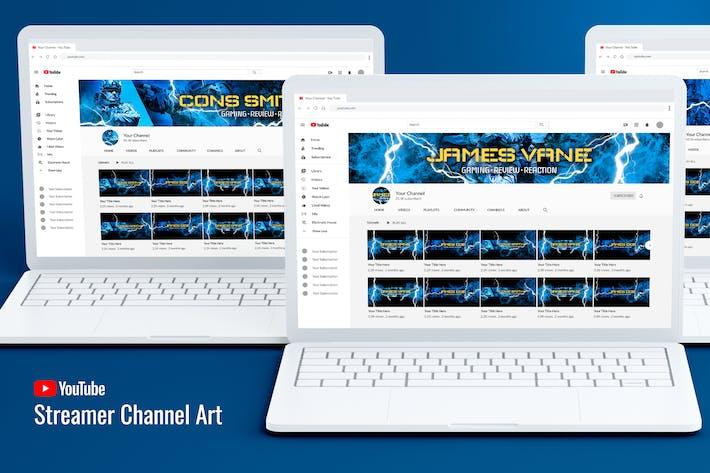 Thumbnail for Streamer Youtube Channel Art
