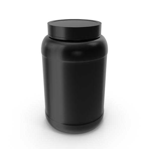 Plastikflaschen Wide Mouth 1.5 Gallon Schwarz