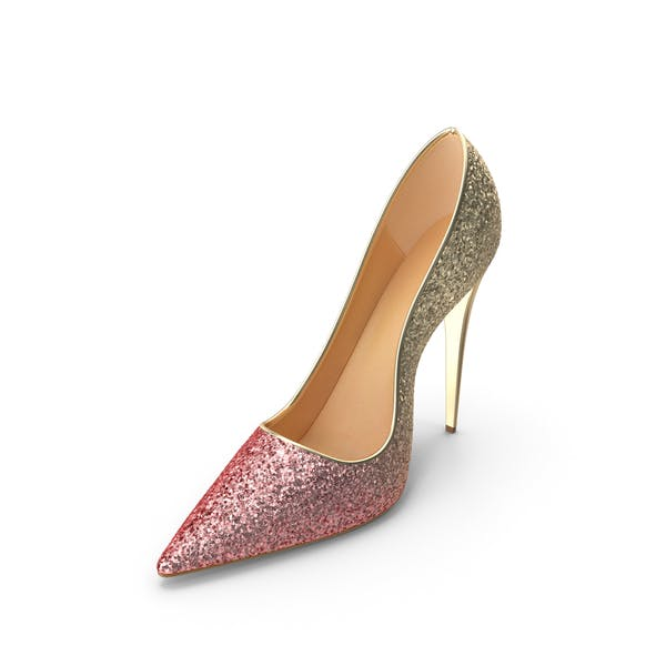 Women's Shoes Gold Pink