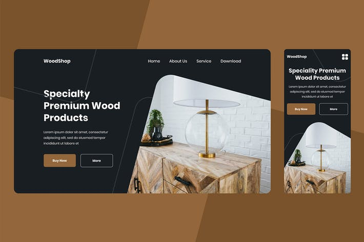 Thumbnail for Wood Shop Landing page