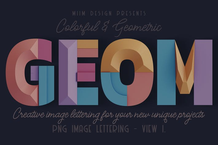 Thumbnail for Decorative Geometry - 3D Lettering - View 1