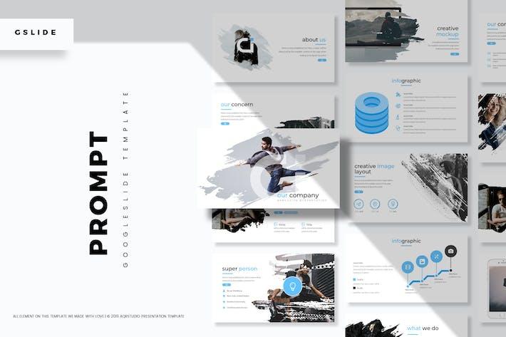Cover Image For Prompt - Google slide Template