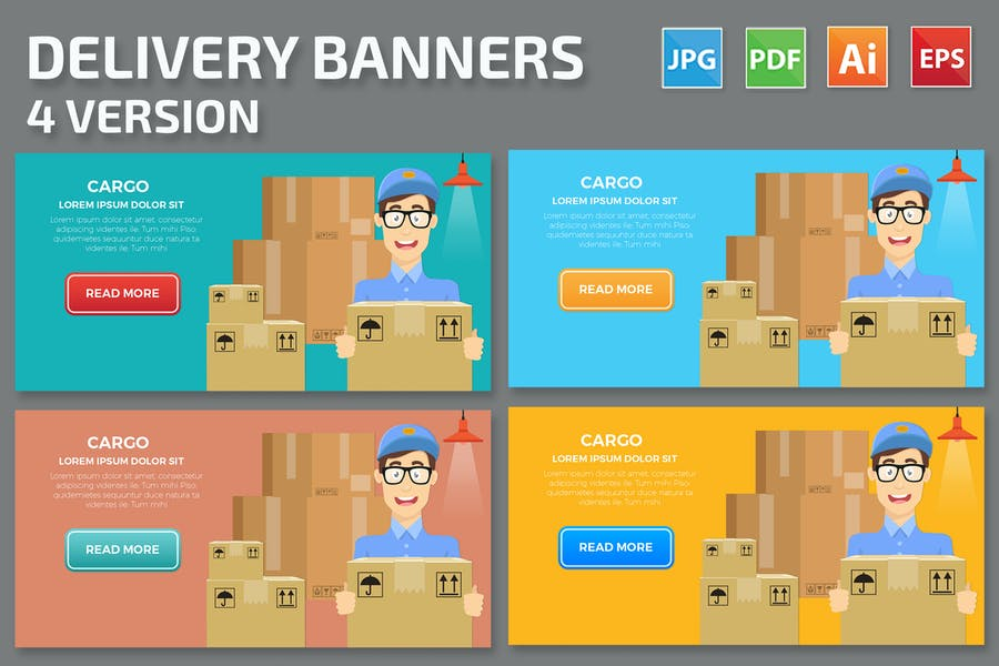 Delivery Banners Design
