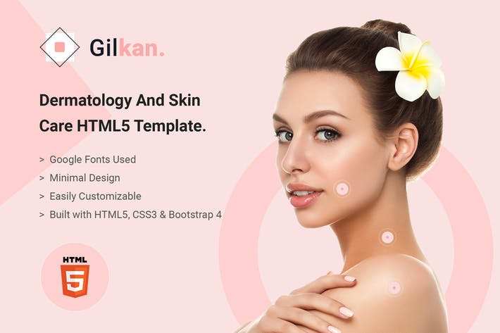 Thumbnail for Gilkan - Dermatology and Skin Care HTML5 Template