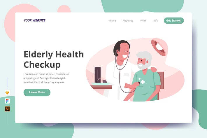 Thumbnail for Elderly Health Checkup - Landing Page