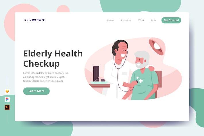 Elderly Health Checkup - Landing Page