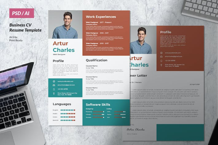 Thumbnail for Professional Resume CV Clean & Minimal Design