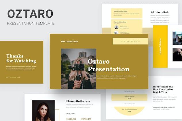 Oztaro - Video Content Creator Keynote
