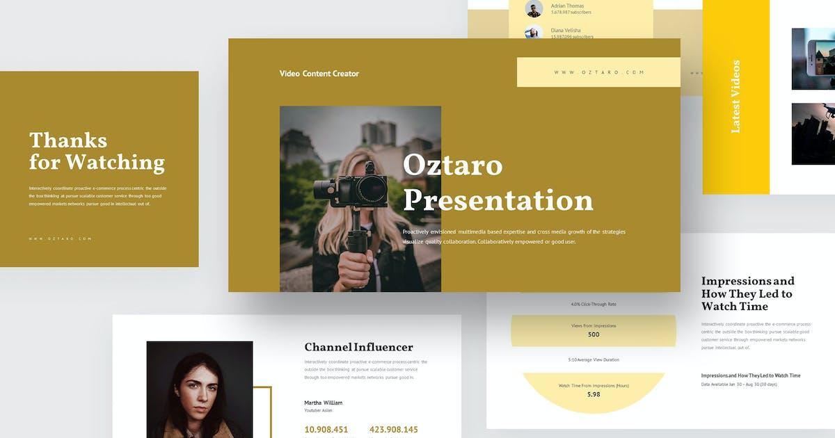 Download Oztaro - Video Content Creator Keynote by Madlistudio