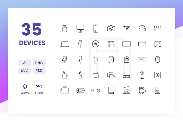 Thumbnail for Devices - Icons Pack