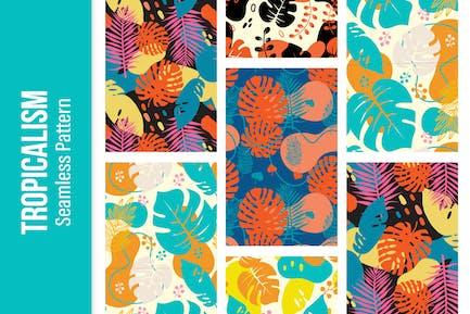 Tropicalism - 5 Tropic Seamless Pattern